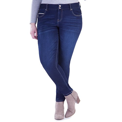 Juniors' Plus Size Amethyst Curvy Flex Jeggings