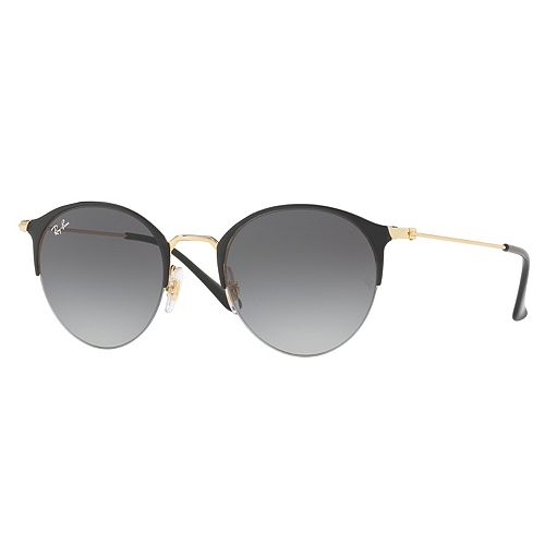 Ray-Ban RB3578 50mm Semi-Rimless Round Gradient Sunglasses