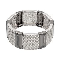Dana Buchman Two Tone Mesh Stretch Bracelet
