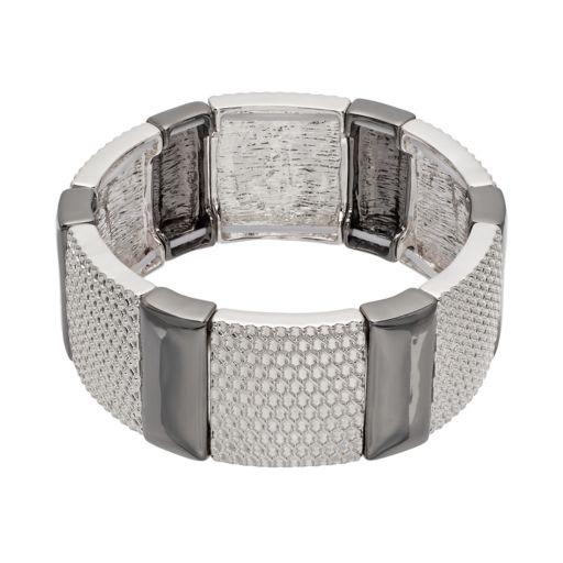 Dana Buchman Two Tone Mesh Stretch Bracelet