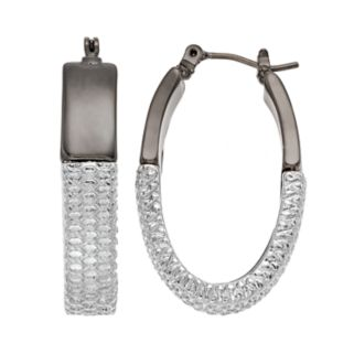Dana Buchman Two Tone Mesh Hoop Earrings
