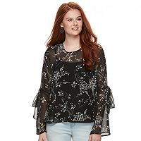 Juniors' Cloud Chaser Tie-Sleeve Top
