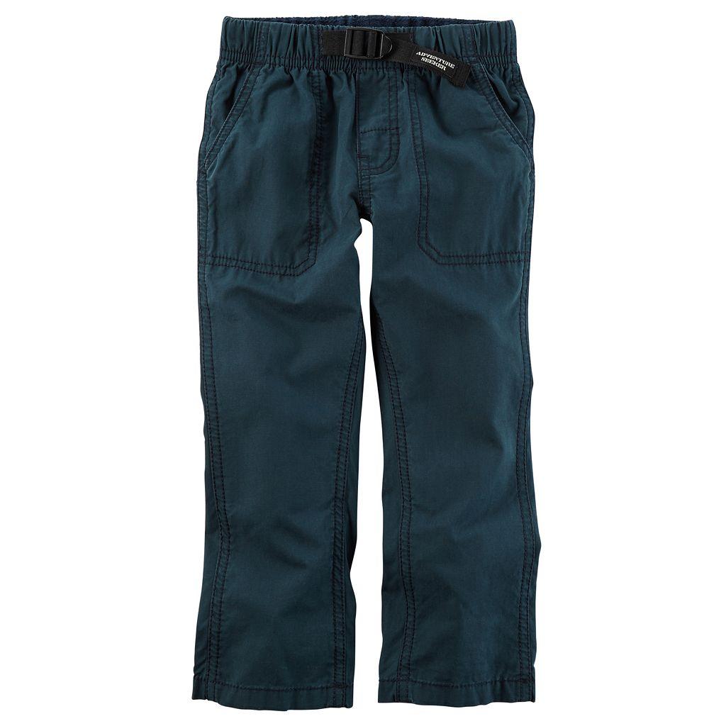 Boys 4-8 Carter's Buckled Poplin Pants