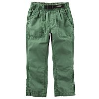 Boys 4-8 Carter's Buckled Poplin Pants