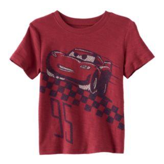 "Disney / Pixar Cars 3 Lightning McQueen Baby Boy ""Lightning McQueen 95""  Slubbed Tee by Jumping Beans®"