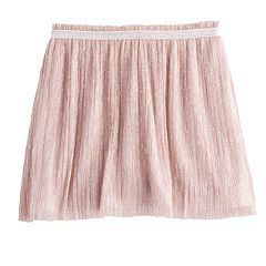 Girls 4-12 SONOMA Goods for Life™ Crinkled Metallic Skort