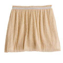 Girls 4-12 SONOMA Goods for Life™ Crinkled Metallic Skort