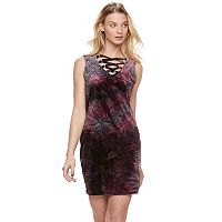 Women's Rock & Republic® Velvet Lace-Up Sheath Dress