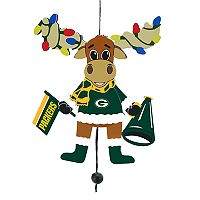 FOCO Green Bay Packers Moose Christmas Ornament