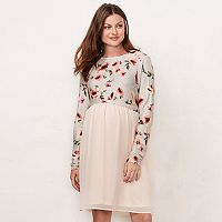 Maternity LC Lauren Conrad Babydoll Mock-Layer Dress