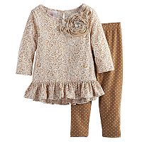 Baby Girl Marmellata Classics Cheetah Ruffle Tunic & Leggings Set