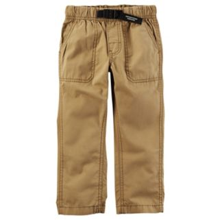 Toddler Boy Carter's Buckled Poplin Pants