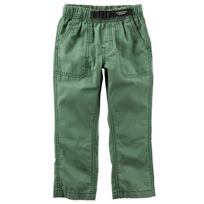 Toddler Boy Carter's Buckled Poplin Pants