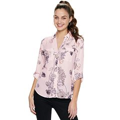 41c7d552c4e Juniors  Candie s® Piped Roll-Tab Blouse