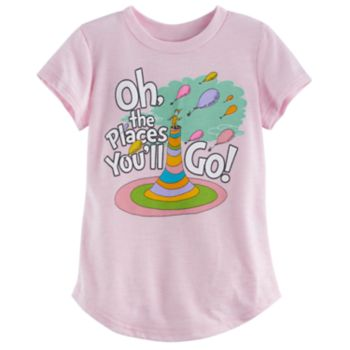 "Toddler Girl Jumping Beans® Dr. Seuss ""Oh, The Places You'll Go"" Graphic Tee"