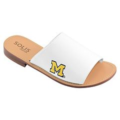Women's Michigan Wolverines Fashionable Slide Sandals