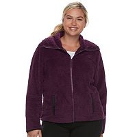 Juniors' Plus Size SO® Sherpa Zip-Up Jacket
