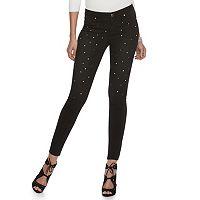Petite Jennifer Lopez Embellished Skinny Jeans