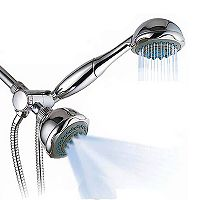 Bath Bliss Chrome Finish 5-Function Combo Spa Showerhead