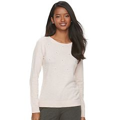 Women's ELLE™ Embellished Crewneck Sweater