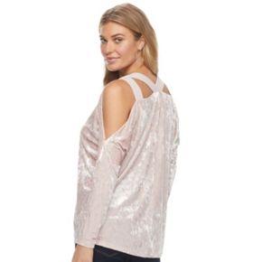 Women's Juicy Couture Cold Shoulder Velvet Top