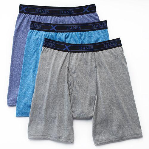 Big & Tall Hanes 3-pack Ultimate X-Temp Longer Leg Boxer Briefs