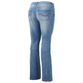 Juniors' Plus Size SO® Destructed Bootcut Jeans