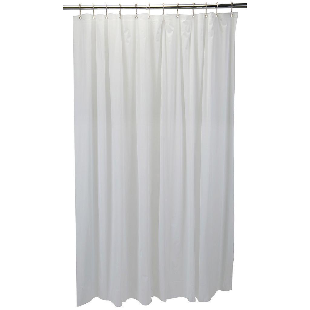 Bath Bliss White Mildew Resistant 6-Gauge PVC Shower Curtain Liner