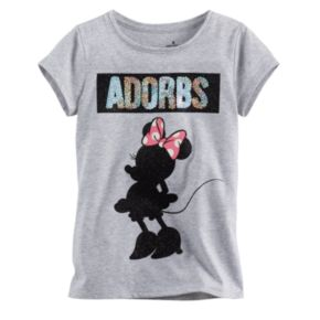 """Disney's Minnie Mouse Toddler Girl """"Adorbs"""" Glitter Tee by Jumping Beans®"""