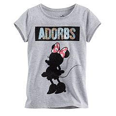 Disney's Minnie Mouse Girls 4-7 'Adorbs' Glitter Tee by Jumping Beans®