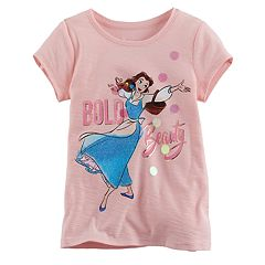 Disney's Beauty & The Beast Girls 4-7 Belle 'Bold Beauty' Glitter Tee by Jumping Beans®