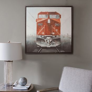 INK+IVY Last Stop Red Framed Canvas Wall Art