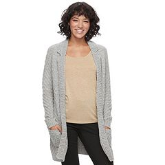 Juniors' Candie's® Chenille Long Cardigan