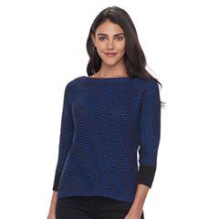 Petite Dana Buchman Boatneck Sweater