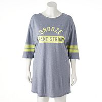 Juniors' Plus Size SO® Pajamas: Varsity Sleep Shirt