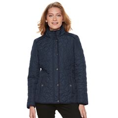 Women's Weathercast Faux-Fur Trim Quilted Jacket