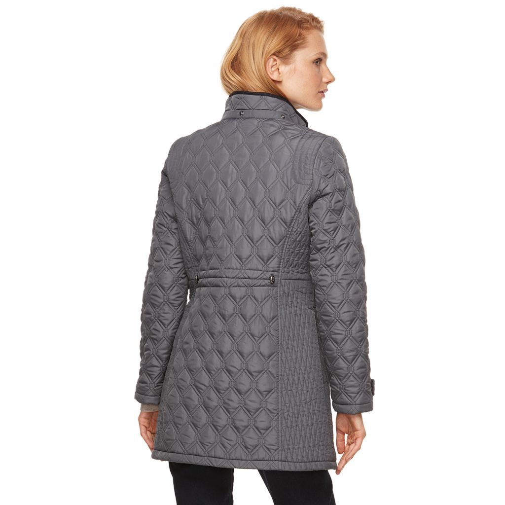 Women's Weathercast Quilted Faux-Suede Jacket