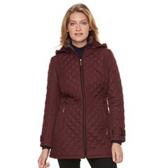 Women's Weathercast Quilted Faux-Fur Trim Jacket