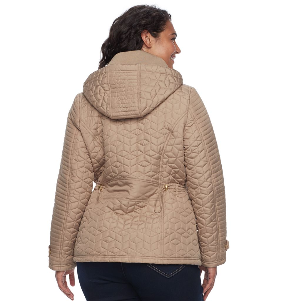 Plus Size Weathercast Quilted Anorak