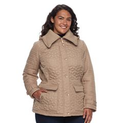83bf6c782ad Plus Size Weathercast Quilted Anorak