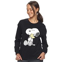 Juniors' Peanuts Snoopy & Woodstock Graphic Sweatshirt