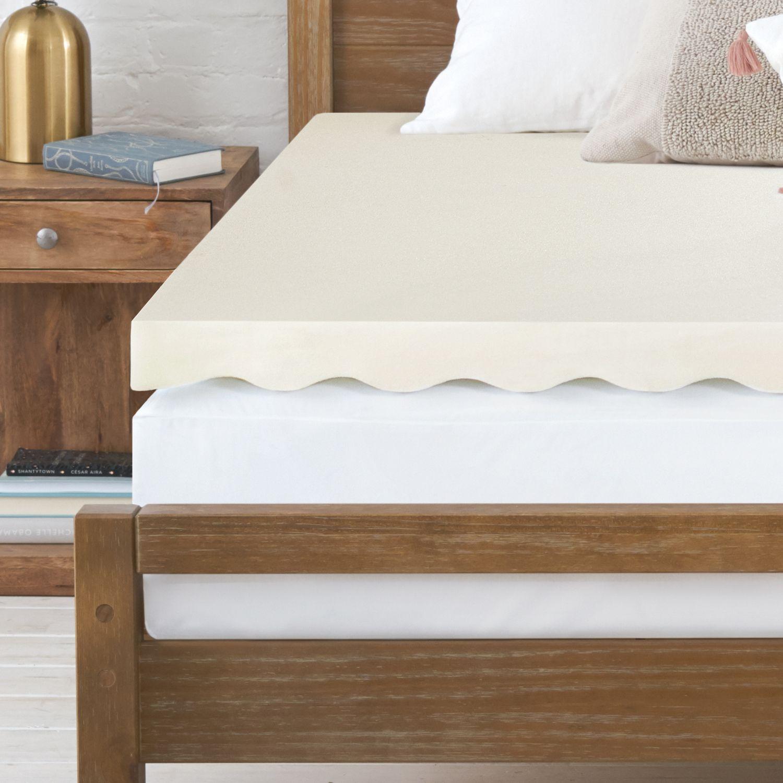 serta 25inch all around comfort memory foam mattress topper