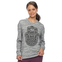 Junior's Hamsa Gypsy Wanderer French Terry Sweatshirt