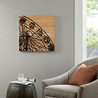 Madison Park Vintage Ferris Wheel Box Wood Wall Art