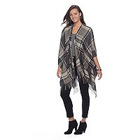 Apt. 9® Fringed Autumn Plaid Ruana