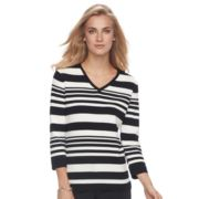 Women's Croft & Barrow® V-Neck Jersey Sweater