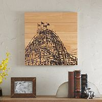 Madison Park Vintage Roller Coaster Box Wood Wall Art