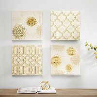Madison Park Gilded Grandeur Canvas Wall Art 4 pc Set