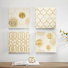 Madison Park Gilded Grandeur Canvas Wall Art 4-piece Set