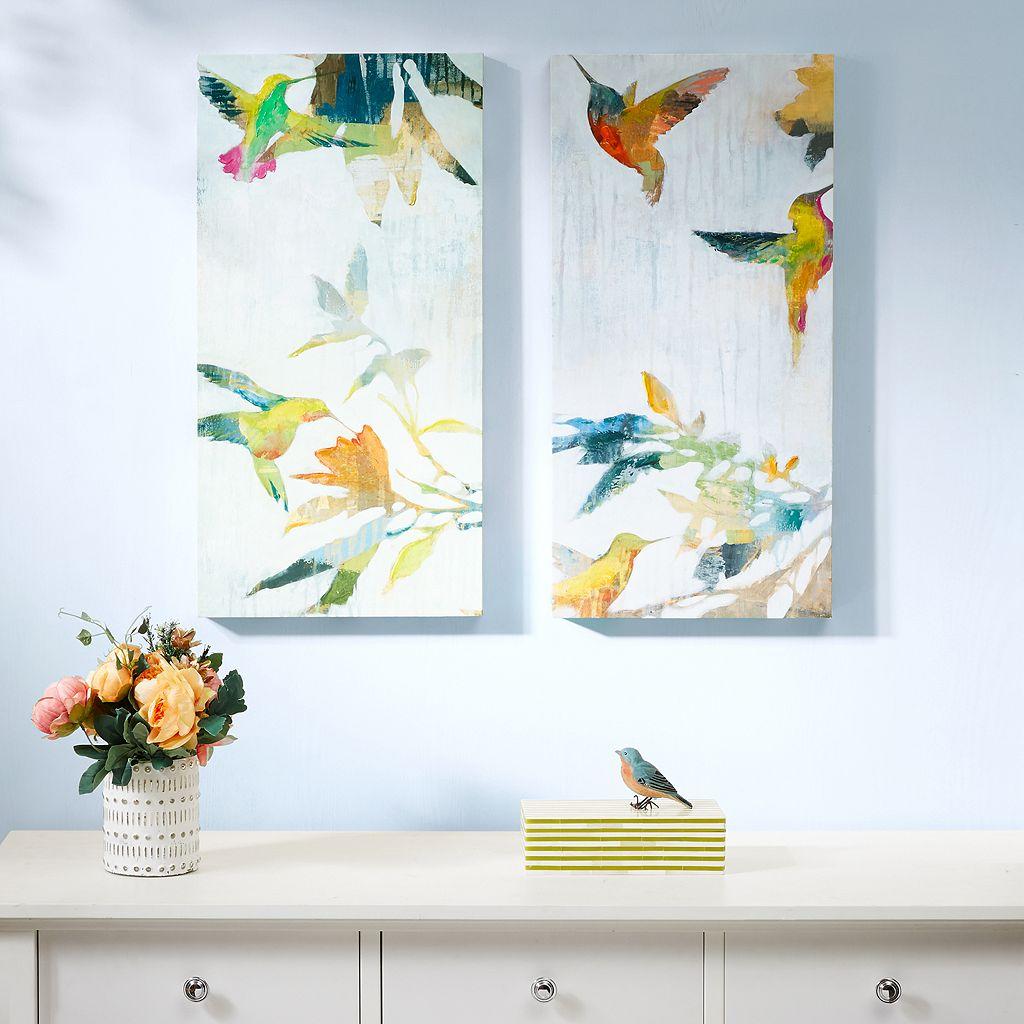 Madison Park Hummingbirds Hum Canvas Wall Art 2-piece Set